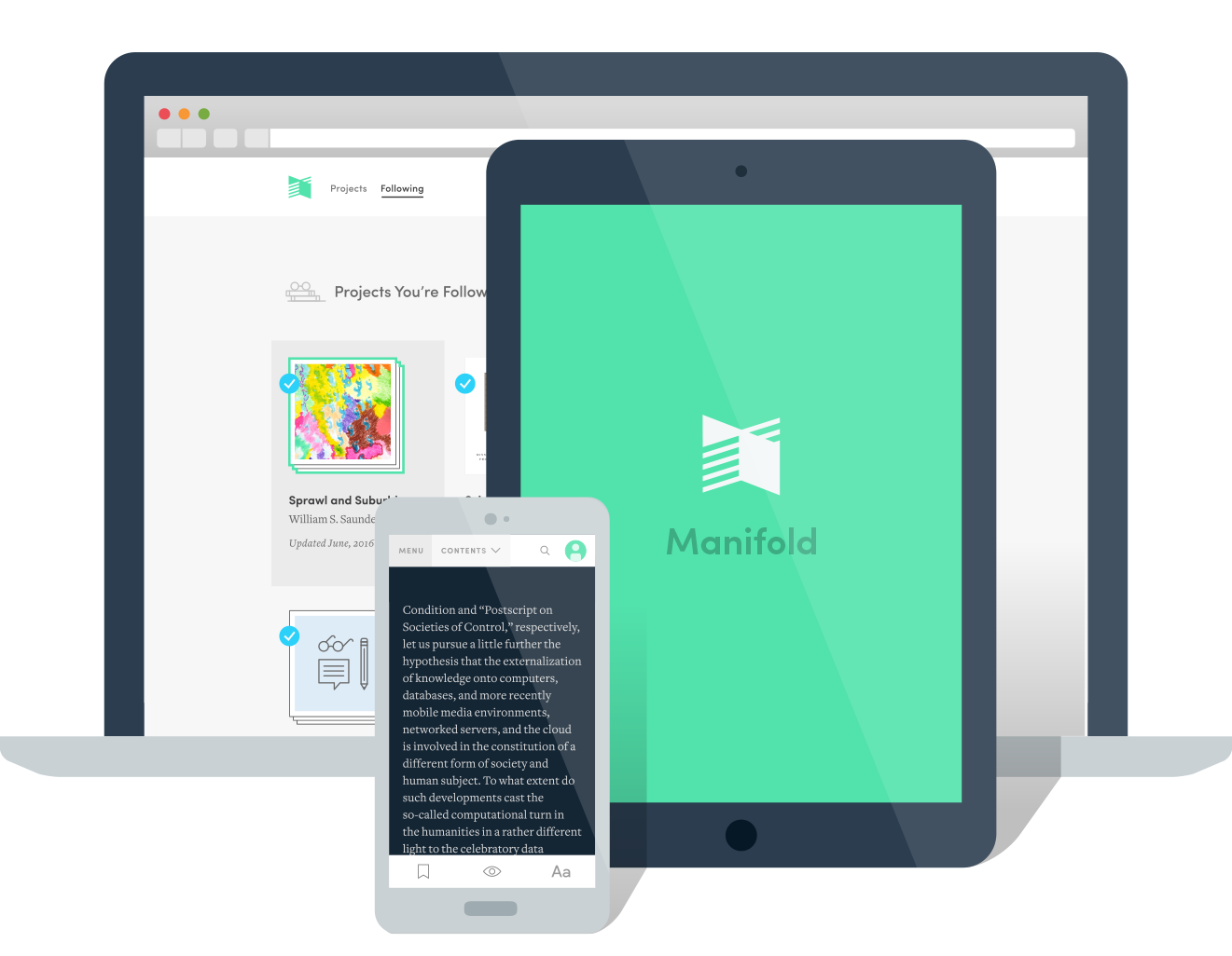 Welcome to Manifold. An Intuitive, collaborative, open-source platform for scholarly publishing